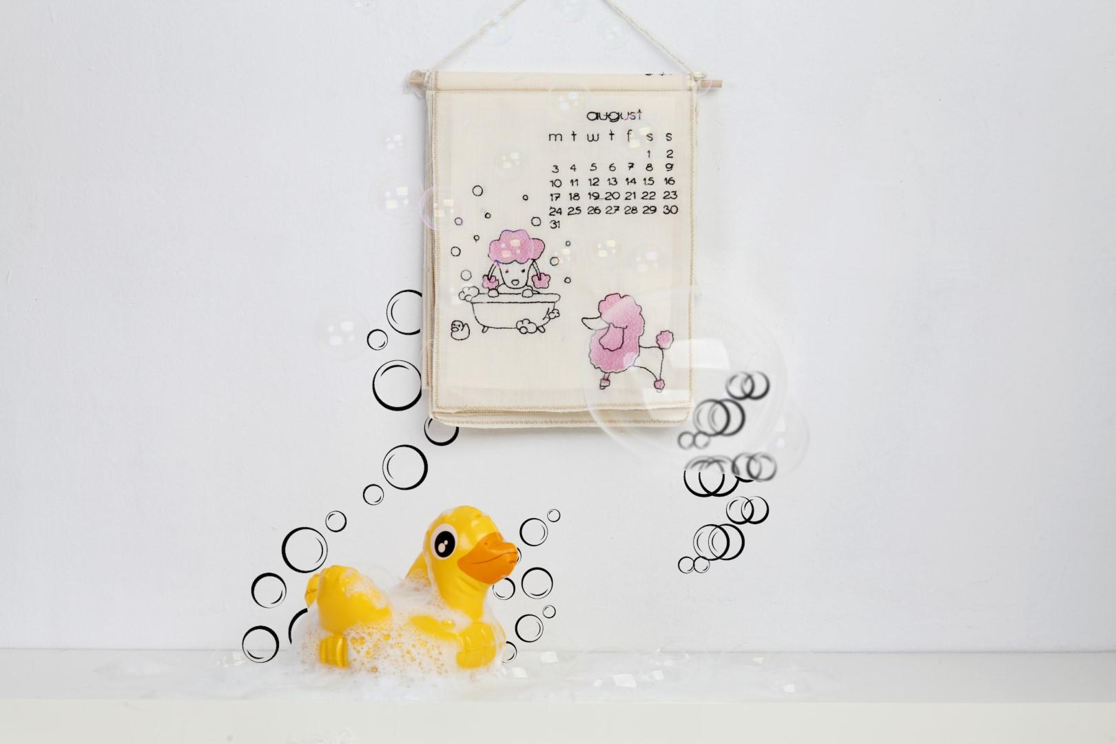 embroidered calendar